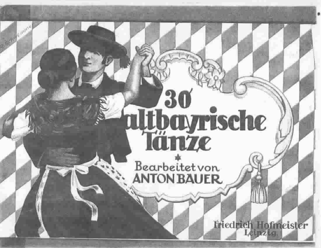 Cover form ALtbarische Tanze --Old Bavarian Dances
