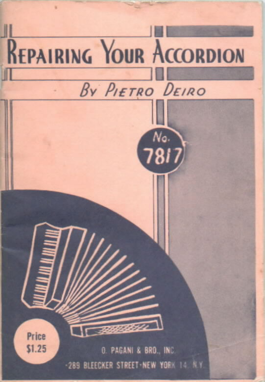 Cover of Deiro's repair manual.