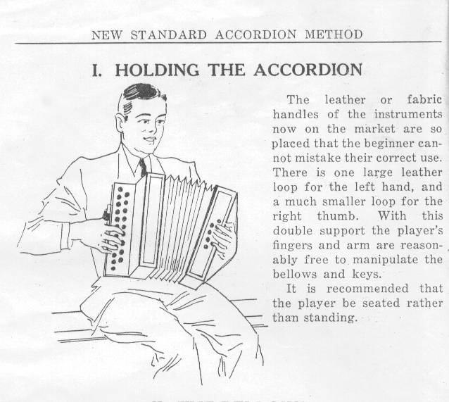Sample page from New Standard Accordion Method