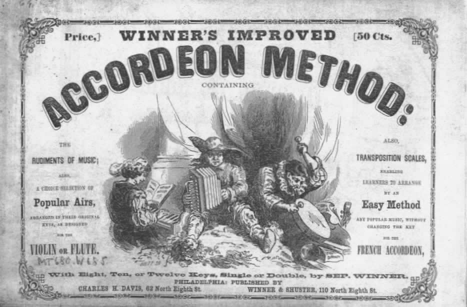 Cover Page from Winner's Improved Accordeon Method